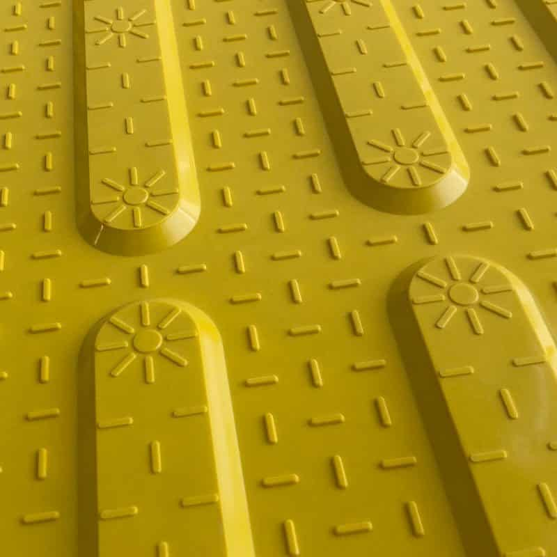 piso para invidentes de fibra de vidrio amarillo