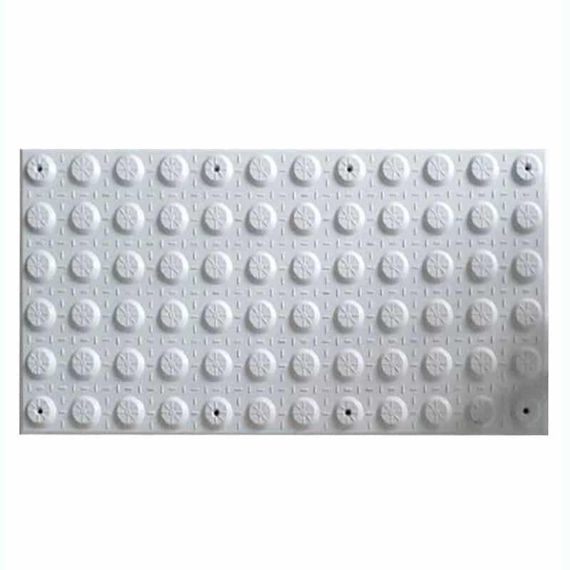 piso para invidentes de fibra de vidrio blanco